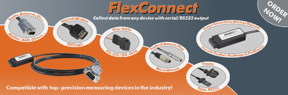 FlexConnect Cables Collect Data from ANY brand gage
