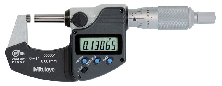 Mitutoyo 293-330 Coolant Proof Micrometer with SPC output, IP65