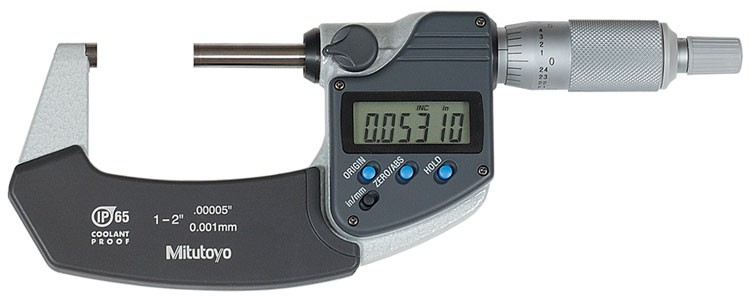 Mitutoyo 293-341 Coolant Proof Micrometer, IP65