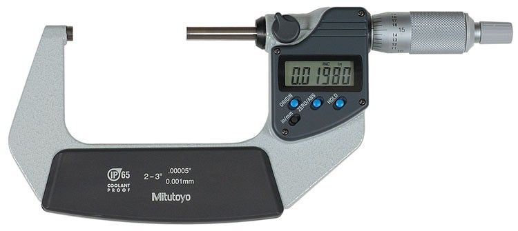 Mitutoyo 293-342 Coolant Proof Micrometer, IP65