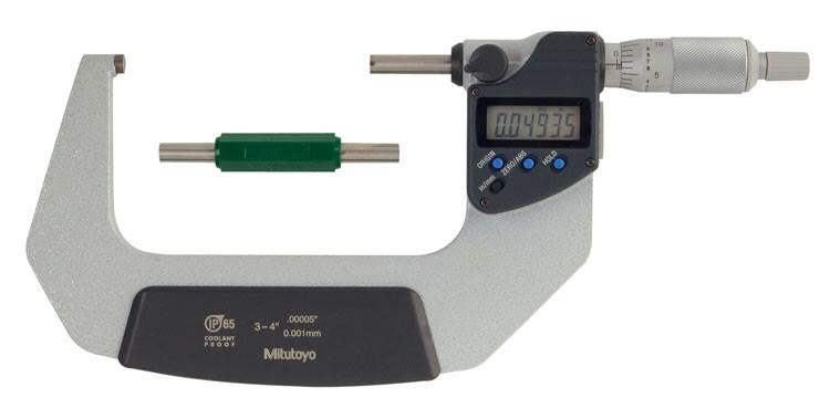 Mitutoyo 293-343 Coolant Proof Micrometer, IP65