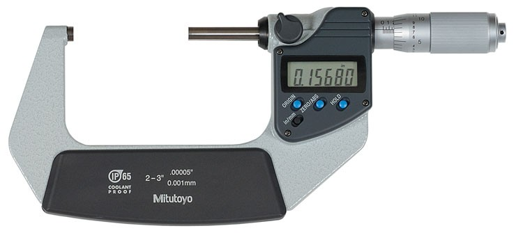 Mitutoyo 293-346 Coolant Proof Micrometer, IP65