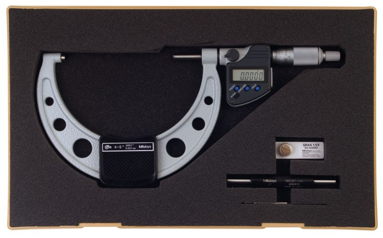 Mitutoyo 293-350-10 Coolant Proof Micrometer with SPC output, IP65