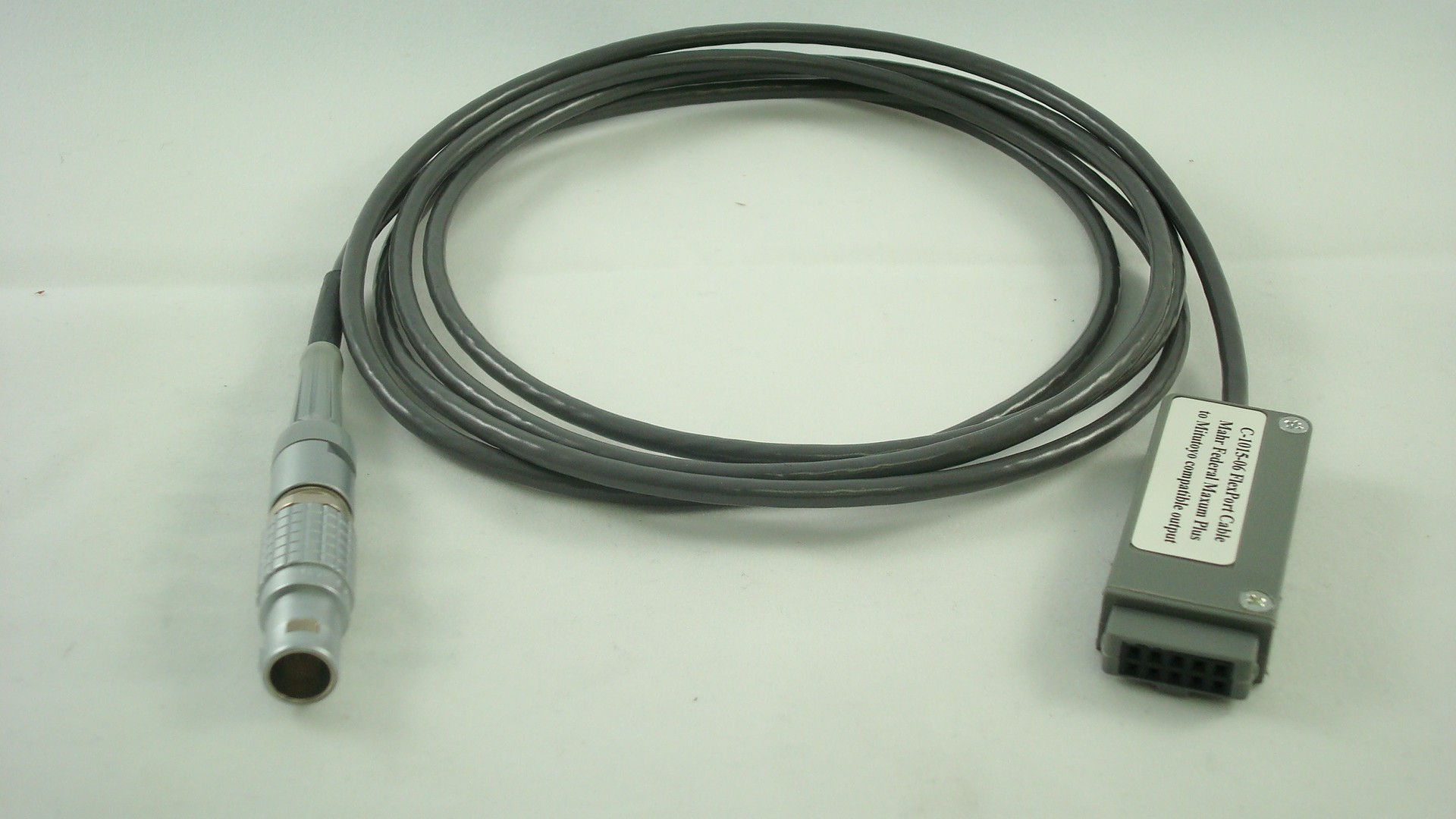 Mahr Federal Micro Maxum Gage Cable to 10 pin connector (6 ft)