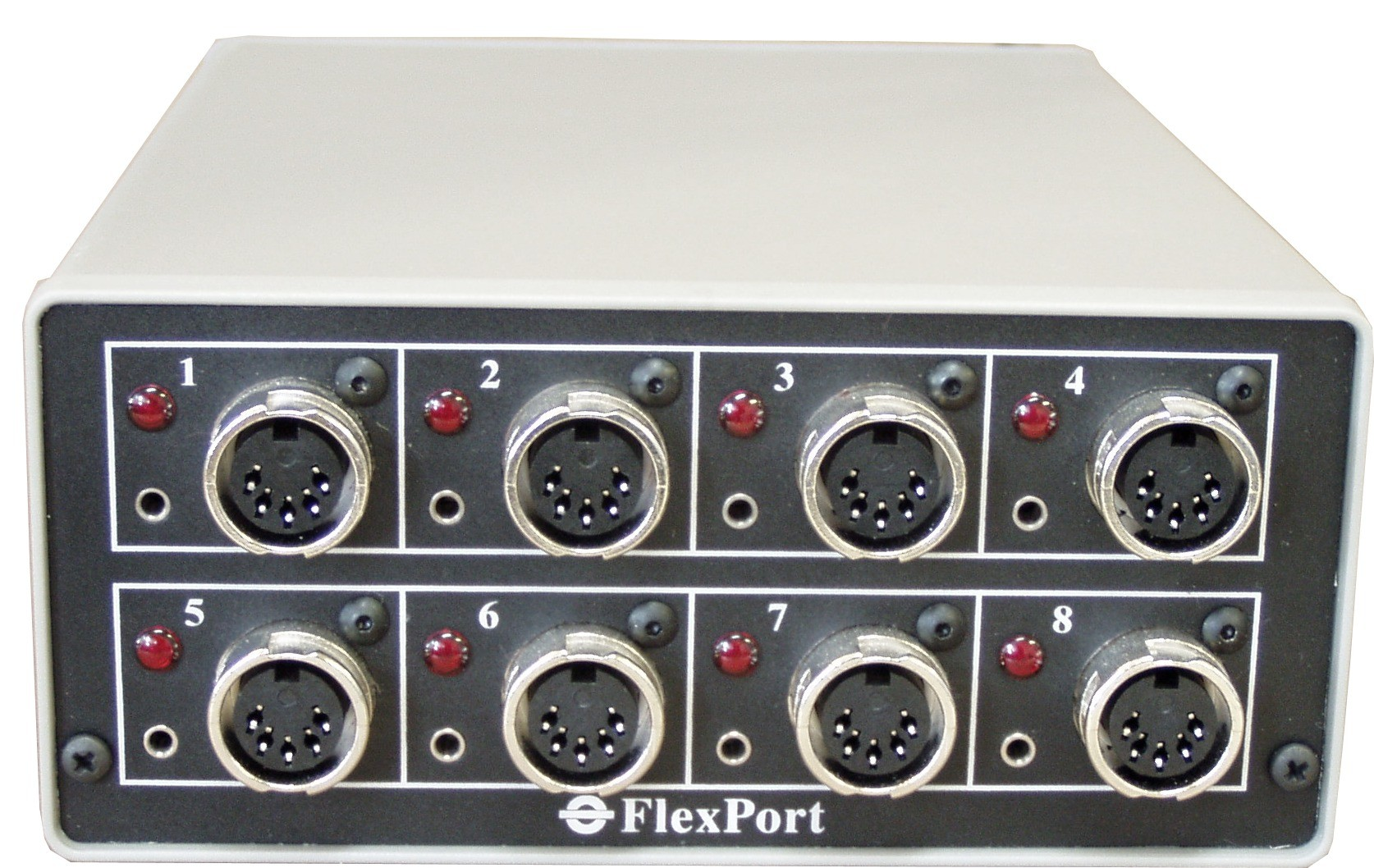 Front panel - FlexPort Analog Gage Interface FP-8A