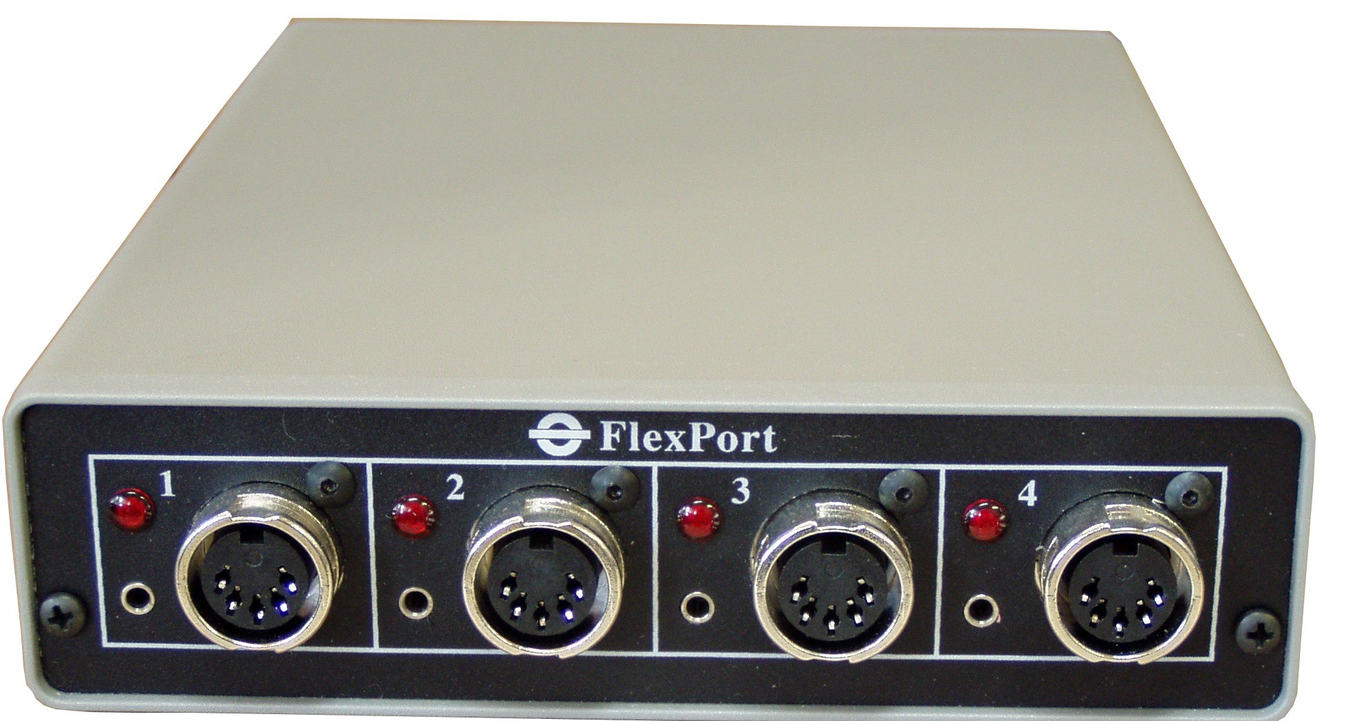 Front panel - FlexPort Analog Gage Interface FP-4a